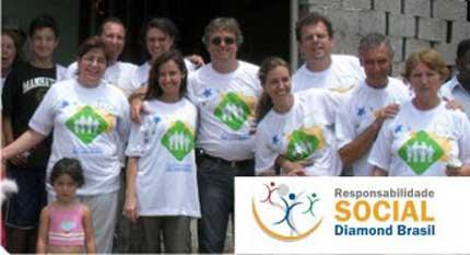 Foto da Ação Social da Diamond Brasil na Comunidade São João Batista