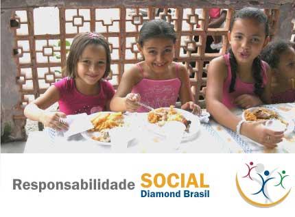 Almoço promovido pela Ação Social Diamond Brasil